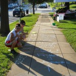 DSCN0799 local sidewalk chalk artists at market